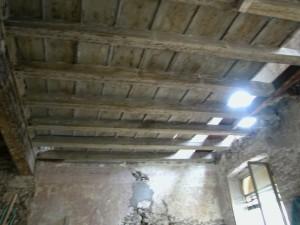 Soffitto prima del restauro